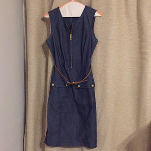 Jean dress with belt
